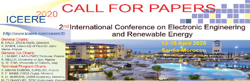 ICEERE'20  2nd International Conference on Electronic Engineering and Renewable Energy  Springer  & Elsevier Conference